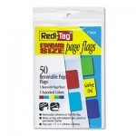 Redi-Tag Removable Page Flags, Red/Blue/Green/Yellow/Purple, 10/Color, 50/Pack RTG76820