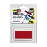 Redi-Tag Removable/Reusable Page Flags, Red, 300/Pack RTG20022