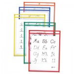 C-Line Reusable Dry Erase Pockets, 9 x 12, Assorted Primary Colors, 25/Box CLI40620