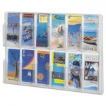 Safco Reveal Clear Literature Displays, 12 Compartments, 30 w x 2d x 20 1/4h, Clear SAF5604CL