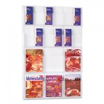 Safco Reveal Clear Literature Displays, 18 Compartments, 30w x 2d x 45h, Clear SAF5600CL