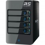 HighPoint 6414AS RocketStor Hardware RAID Class 4-Bay Storage Tower Enclosure RS6414AS