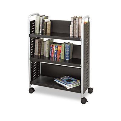 new cabinets safco scoot book cart three shelf 33w x 14 1 4d x 44 1 23731