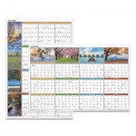 "At-A-Glance ""Seasons in Bloom"" Vertical/Horizontal Erasable Wall Planner, 24 x 36, 2018 AAGPA133"