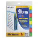 "C-Line Sheet Protectors with Index Tabs, Assorted Color Tabs, 2"", 11 x 8 1/2, 8/ST CLI05580"