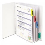 "C-Line Sheet Protectors with Index Tabs, Assorted Color Tabs, 2"", 11 x 8 1/2, 5/ST CLI05550"