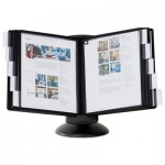 Durable 553901 SHERPA Motion Desk Reference System, 10 Panels, Black Borders DBL553901