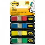 Post-It Flags 6834 Small Page Flags in Dispensers, Four Colors, 35/Color, 4 Dispensers/Pack MMM6834