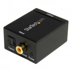 StarTech SPDIF Digital Coaxial or Toslink to Stereo RCA Audio Converter SPDIF2AA