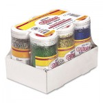 Pacon Spectra Glitter, .04 Hexagon Crystals, Assorted, 4 oz Shaker-Top Jar, 6/Pack PAC91370