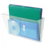 Deflecto Stackable Wall File, Legal, One Pocket, Clear DEF74301