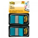 Post-It Flags Standard Page Flags in Dispenser, Bright Blue, 100 Flags/Dispenser MMM680BB2