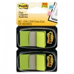 Post-It Flags Standard Page Flags in Dispenser, Bright Green, 100 Flags/Dispenser MMM680BG2