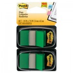 Post-It Flags Standard Page Flags in Dispenser, Green, 100 Flags/Dispenser MMM680GN2