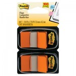Post-It Flags Standard Page Flags in Dispenser, Orange, 100 Flags/Dispenser MMM680OE2