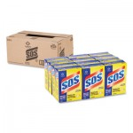 S.O.S 88320 Steel Wool Soap Pad, 15 Pads/Box, 12 Boxes/Carton CLO88320CT