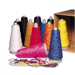 Pacon Trait-Tex Double Weight Yarn Cones, 2 oz, Assorted Colors, 12/Box PAC00590