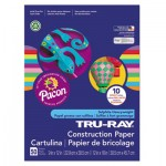 Pacon Tru-Ray Construction Paper, 76 lbs., 12 x 18, Bright Assortment, 50 Sheets/Pack PAC102941