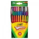 Crayola 529724 Twistables Mini Crayons, 24 Colors/Pack CYO529724