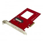 "StarTech.com U.2 to PCIe Adapter for 2.5"" U.2 NVMe SSD - SFF-8639 - x4 PCI Express 3"