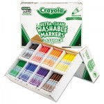 Crayola 588200 Ultra-Clean Washable Marker Classpack, Broad Bullet Tip, Assorted Colors, 200/Box CYO588200