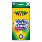 Crayola 587809 Ultra-Clean Washable Markers, Fine Bullet Tip, Classic Colors, 8/Pack CYO587809