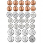 Ashley US Coin Money Set Die-cut Magnets 10067