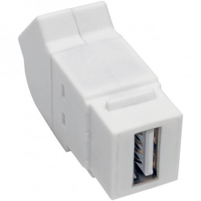 Tripp Lite USB 2.0 All-in-One Keystone/Panel Mount Angled Coupler (F/F), White U060-000-KPA-WH