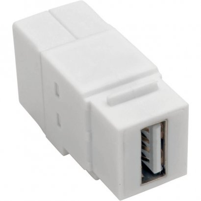 Tripp Lite USB 2.0 All-in-One Keystone/Panel Mount Coupler (F/F), White U060-000-KP-WH