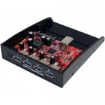 StarTech.com USB 3.0 Front Panel 4 Port Hub - 3.5 5.25in Bay 35BAYUSB3S4