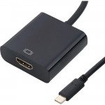 4XEM USB-C to HDMI Adapter-Black 10 inch 4XUSBCHDMIAB