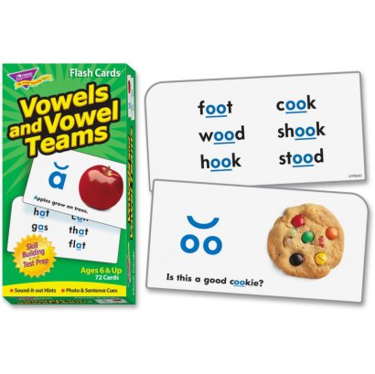 Vowels and Vowel Teams Skill Drill Flash Cards 53008