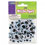 Creativity Street Wiggle Eyes Assortment, Assorted Sizes, Black, 100/Pack CKC344602