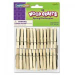 Creativity Street Wood Spring Clothespins, 3 3/8 Length, 50 Clothespins/Pack CKC365801