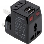Targus World Travel Power Adapter with Dual USB Charging Ports APK032US