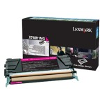 Lexmark X748 Magenta High Yield Return Program Toner Cartridge X748H1MG