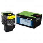 Lexmark Yellow Extra High Yield Return Program Toner Cartridge 80C1XY0