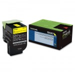 Lexmark Yellow Extra High Yield Return Program Toner Cartridge 70C1XY0